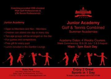 Junior Academy - Stoke Park