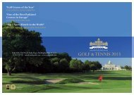 Top 5 Sport Hotels in the World - Stoke Park