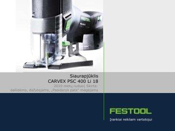 1. Naujasis CARVEX PSC 400 Li 18 ir jo privalumai - Stokker Įrankių ...