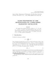 basis properties of the eigensystem of a perturbed ... - St. Olaf College