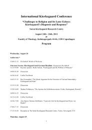 International Kierkegaard Conference - St. Olaf College
