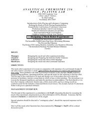ANALYTICALCHEMISTRY 2 5 6 ROLE - St. Olaf College