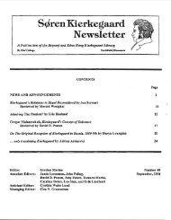 Soren Kierkegaard Newsletter 48 - St. Olaf College
