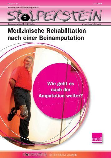 Medizinische Rehabilitation nach einer Beinamputation - stolperstein
