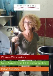 Women Winemakers New Arrivals from Chile and ... - Stone Vine Sun