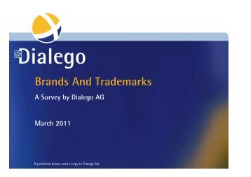110511_DD_Brands and Trademarks - Dialego AG