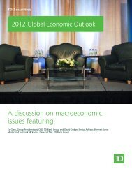 A discussion on macroeconomic issues featuring - The Globe and Mail