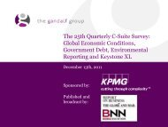 The 25th Quarterly C-Suite Survey: Global Economic Conditions ...