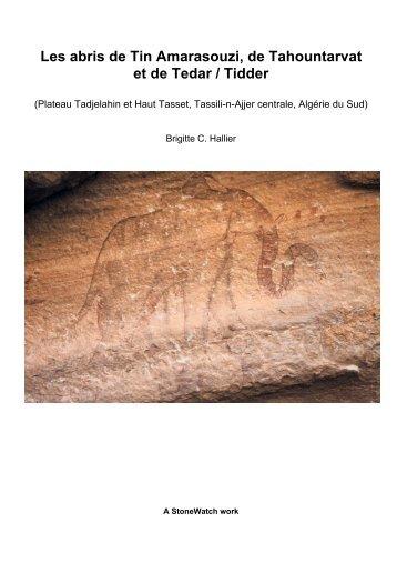 Les abris de Tin Amarasouzi, de Tahountarvat et de ... - StoneWatch