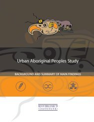 Urban Aboriginal Peoples Study - The Globe and Mail