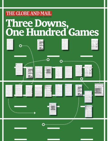 Three Downs, One Hundred Games - The Globe and Mail