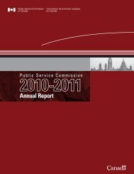 Annual Report - Commission de la fonction publique du Canada