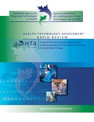 health technology assessment rapid review - The Globe and Mail