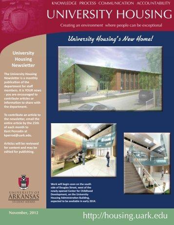 November, 2012 - University Housing