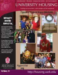 October, 2011 - University Housing - University of Arkansas