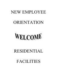 New Employee Orientation - University Housing - University of ...