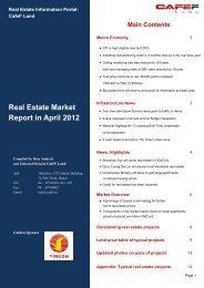 Real Estate Market Report in April 2012 - CafeF