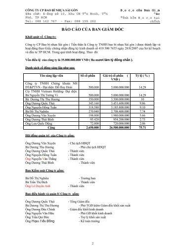 Báo cáo tài chính năm 2009 - CafeF