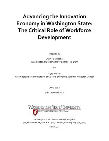 Advancing the Innovation Economy in Washington State - Energy ...