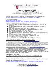 Energy Policy Act of 2005 - Energy Program - Washington State ...