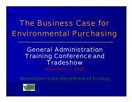 The Business Case for Environmental Purchasing - Energy Program