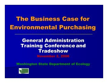 The Business Case for Environmental Purchasing - Energy Program