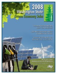 Washington State Green Economy Jobs - Energy Program ...