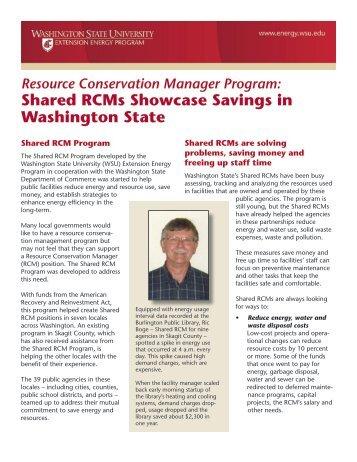 Shared RCMs Showcase - Energy Program - Washington State ...