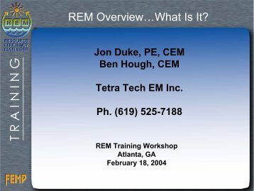 REM Overview...What Is It? - Energy Program