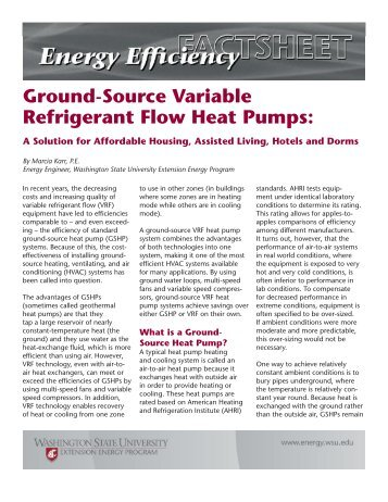 Ground-Source Variable Refrigerant Flow Heat Pumps: - Energy ...