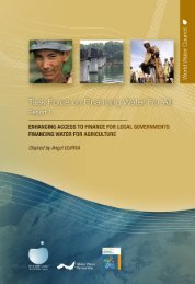 Task Force on Financing Water for All - report 1 - World Water Council