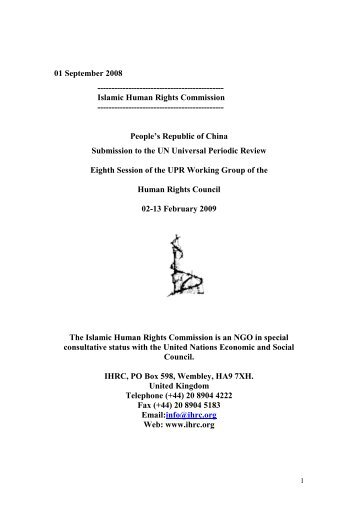 China.pdf - Islamic Human Rights Commission
