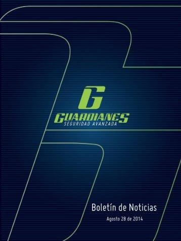 Boletín informativo de seguridad Guardianes del 28-08-2014