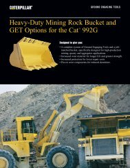 Heavy-Duty Mining Rock Bucket and GET Options for the Cat® 992G