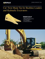 Cat Twin Sharp Tip for Backhoe Loaders and Hydraulic Excavators ...