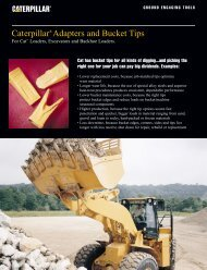 Caterpillar® Adapters and Bucket Tips