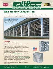 Wall Master Exhaust Fan - Sitepro