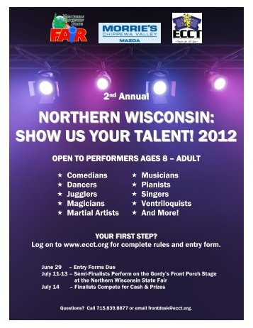 NORTHERN WISCONSIN: SHOW US YOUR TALENT! 2012 - Sitepro