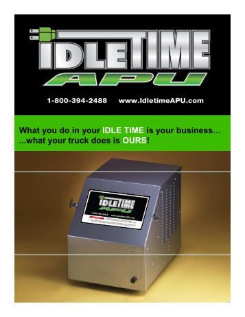 What you do in your IDLE TIME is your business… ...what ... - Sitepro