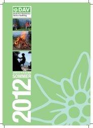 Sommerprogramm 2012 - Deutscher Alpenverein Sektion Kaufering