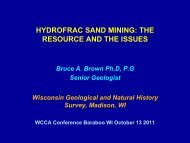 HYDROFRAC SAND MINING: THE RESOURCE AND THE ISSUES