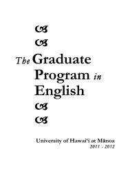 Graduate Manual 2011-12 - Department of English - University of ...