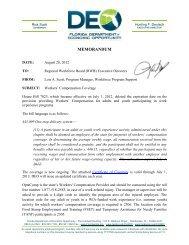 MEMORANDUM - Department of Economic Opportunity