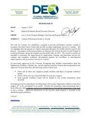 Regional Workforce Board Executive Directors FROM