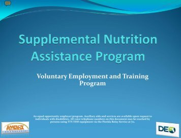Welcome to the Food Stamp Employment & Training Program
