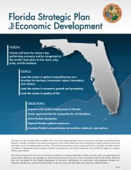 Strategic Plan Brochure - Department of Economic Opportunity