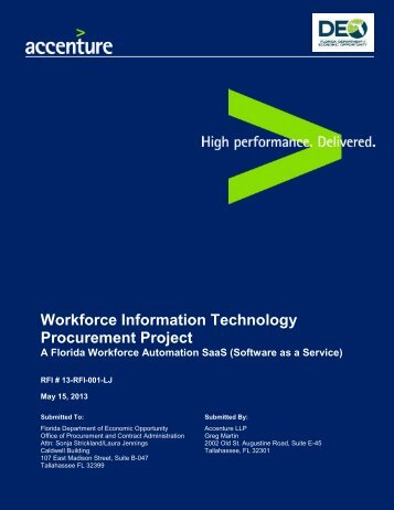 Workforce Information Technology Procurement Project