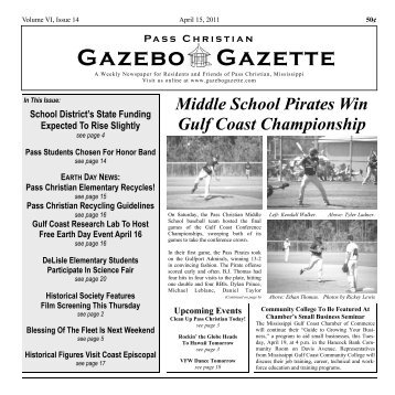 Pages 1-7 from the April 15 issue - Gazebo Gazette