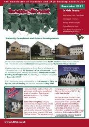 Homefront December 2011 - Lochalsh & Skye Housing Association