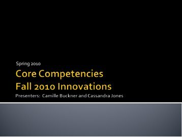October 2010, Core Competencies - Marymount University